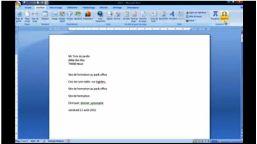 Word 2007 insérer symbole et équation