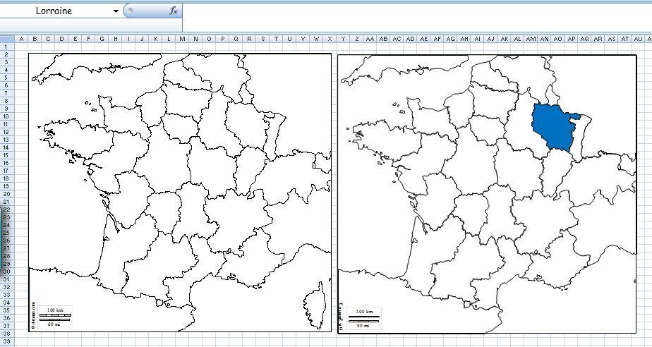 Comment importer une carte de géographie dans Excel