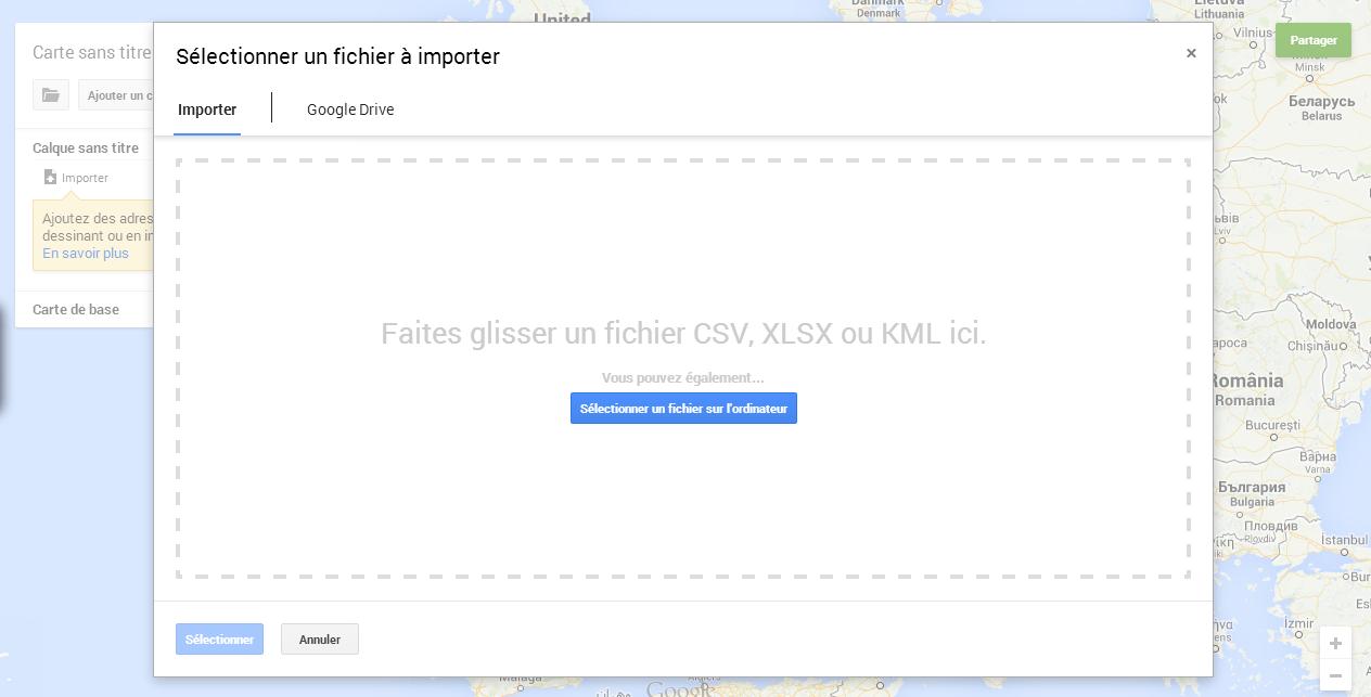 comment cr u00e9er une carte sur google map avec excel