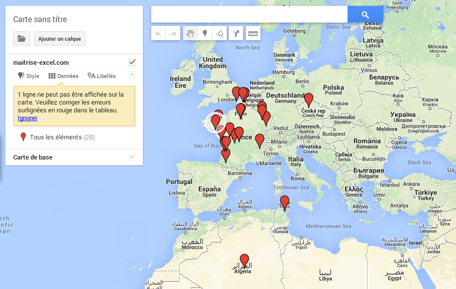 comment cr er une carte sur google map avec excel. Black Bedroom Furniture Sets. Home Design Ideas
