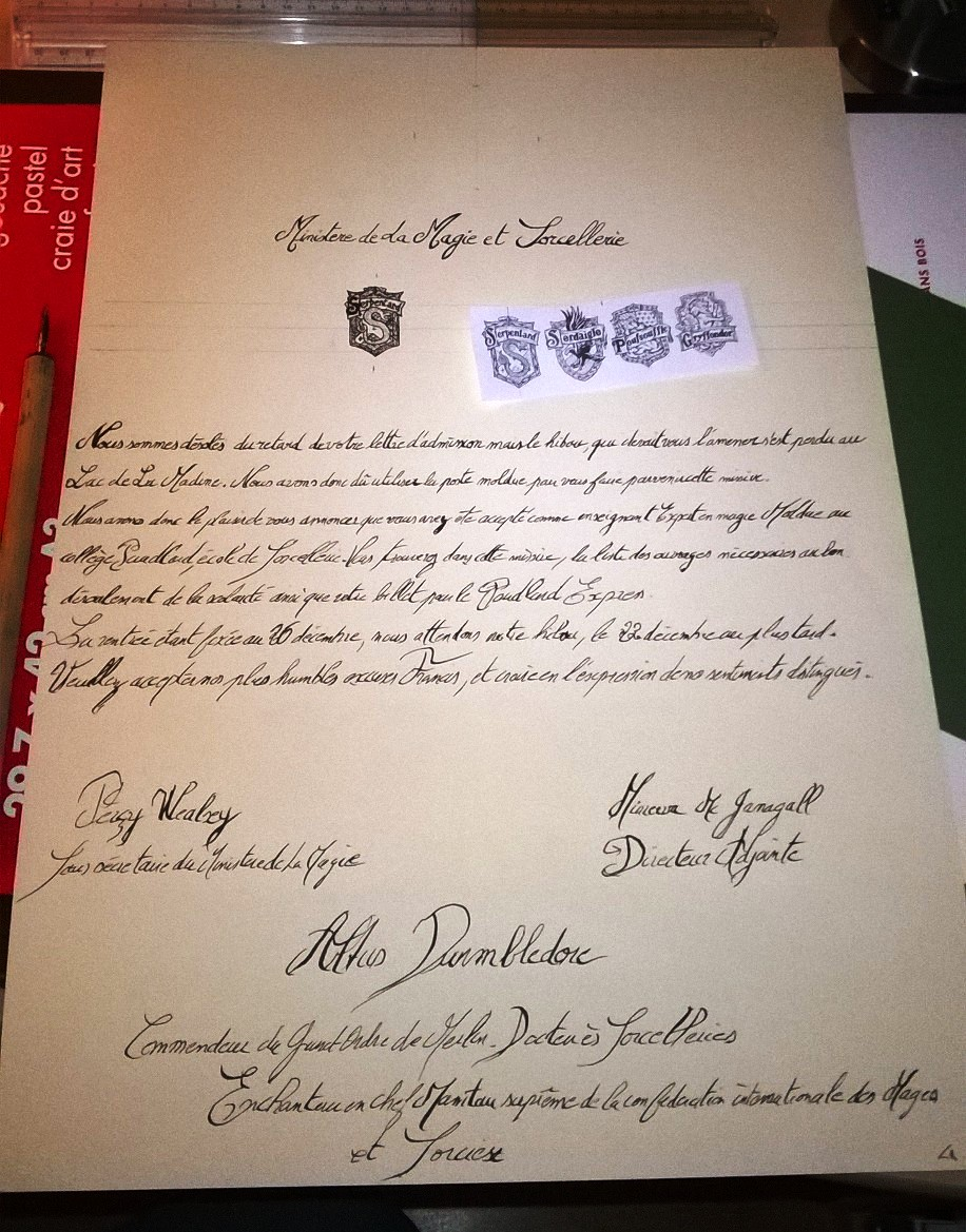 modele lettre harry potter
