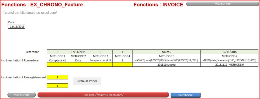 Excel 2007 : Comment réaliser une incrémentation de facture en moins de 15 min.