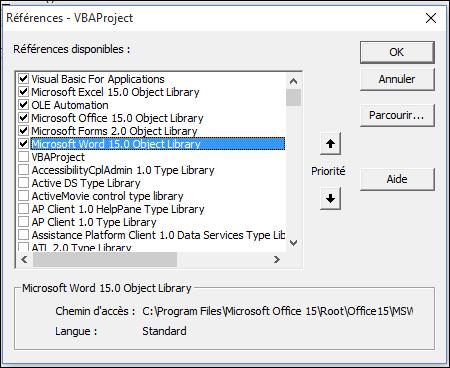 Excel 2013 : Comment lancer Word 2016 en moins de 4 min avec EXCEL VBA.
