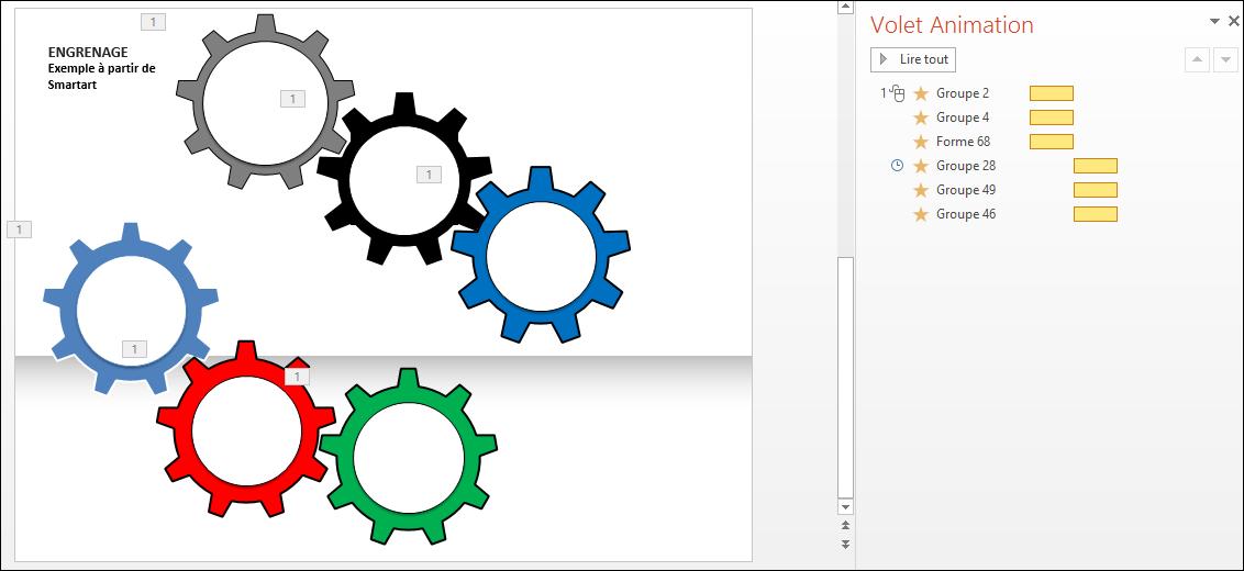 POWERPOINT_2013_EX_ENGRENAGE Powerpoint 2013 : Comment faire un engrenage avec un graphique Smartart sur Powerpoint en moins de 3 min.
