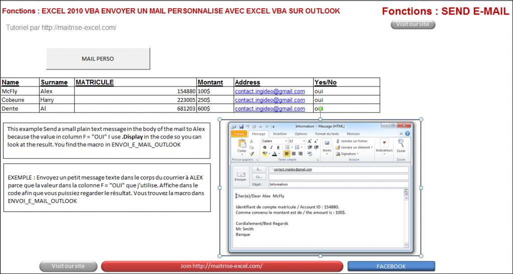 Excel 2010 : Comment envoyer un e-mail Outlook 2010 personnalisé en VBA en moins de 3 min.EXCEL_2010_VBA_ENVOYER_E_MAIL_PERSONNALISE_OUTLOOK
