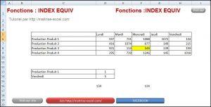 Excel 2007 : Comment utiliser Index Equiv simplement sur Excel en moins de 5 min. EXCEL_2007_EX_SIMPLE_INDEX_EQUIV