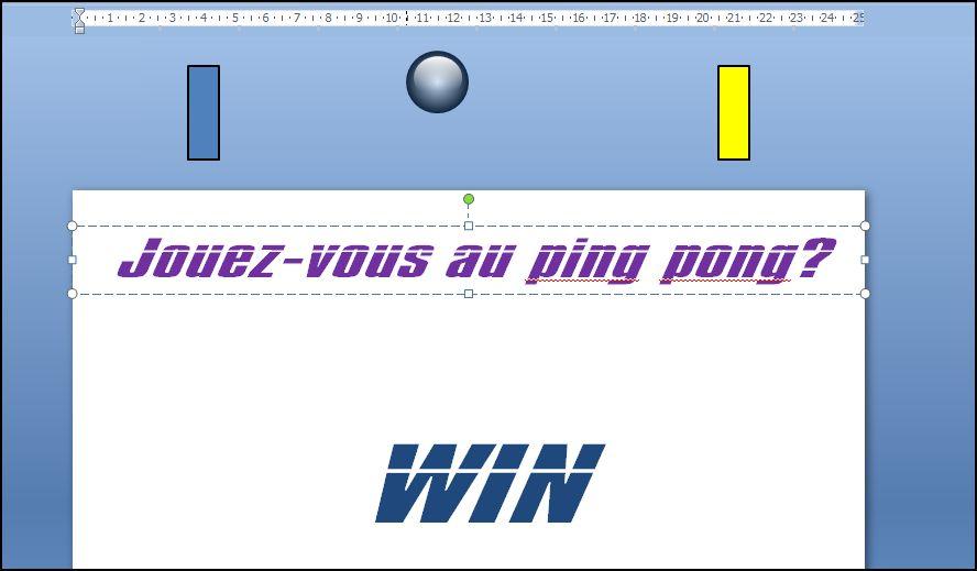 Powerpoint 2007 : Comment faire un effet Ping Pong sur Powerpoint en moins de 6 min. POWERPOINT_2007_EFFET_PING_PONG