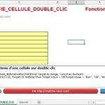Excel 2013 : Comment modifier le contenu d'une cellule sur double clic sur Excel VBA en moins de 5 min.