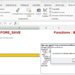 Excel 2013 : Comment bloquer enregistrement sur Excel VBA si cellule vide en moins de 5 min.