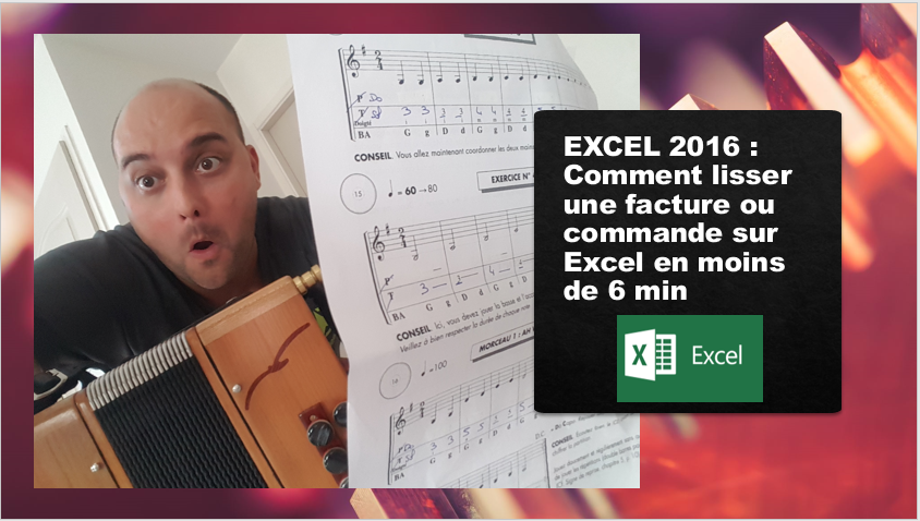 Comment lisser une facture ou commande sur Excel avec une formule simple?