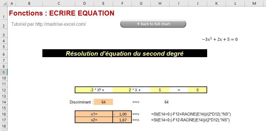 Excel 2016 : Comment écrire une équation mathématique sur Excel en moins de 3 min