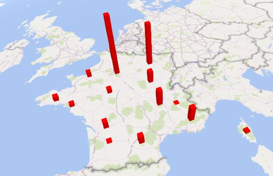 Excel 365 : Comment faire une carte 3D par région COVID19 sur Excel en moins de 15min.