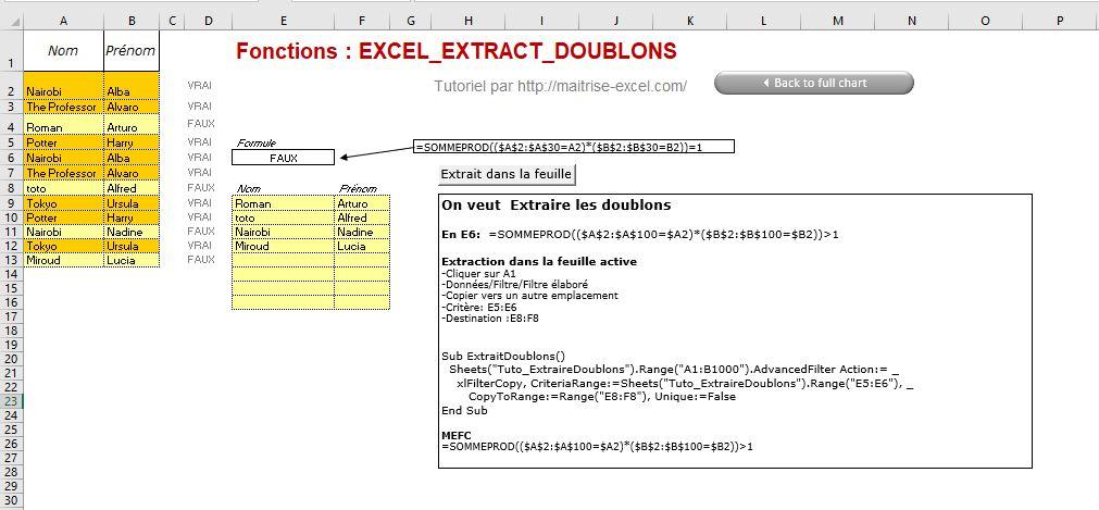 Excel 365 : Comment extraire doublon d'un plage sur Excel en moins de 6 min.